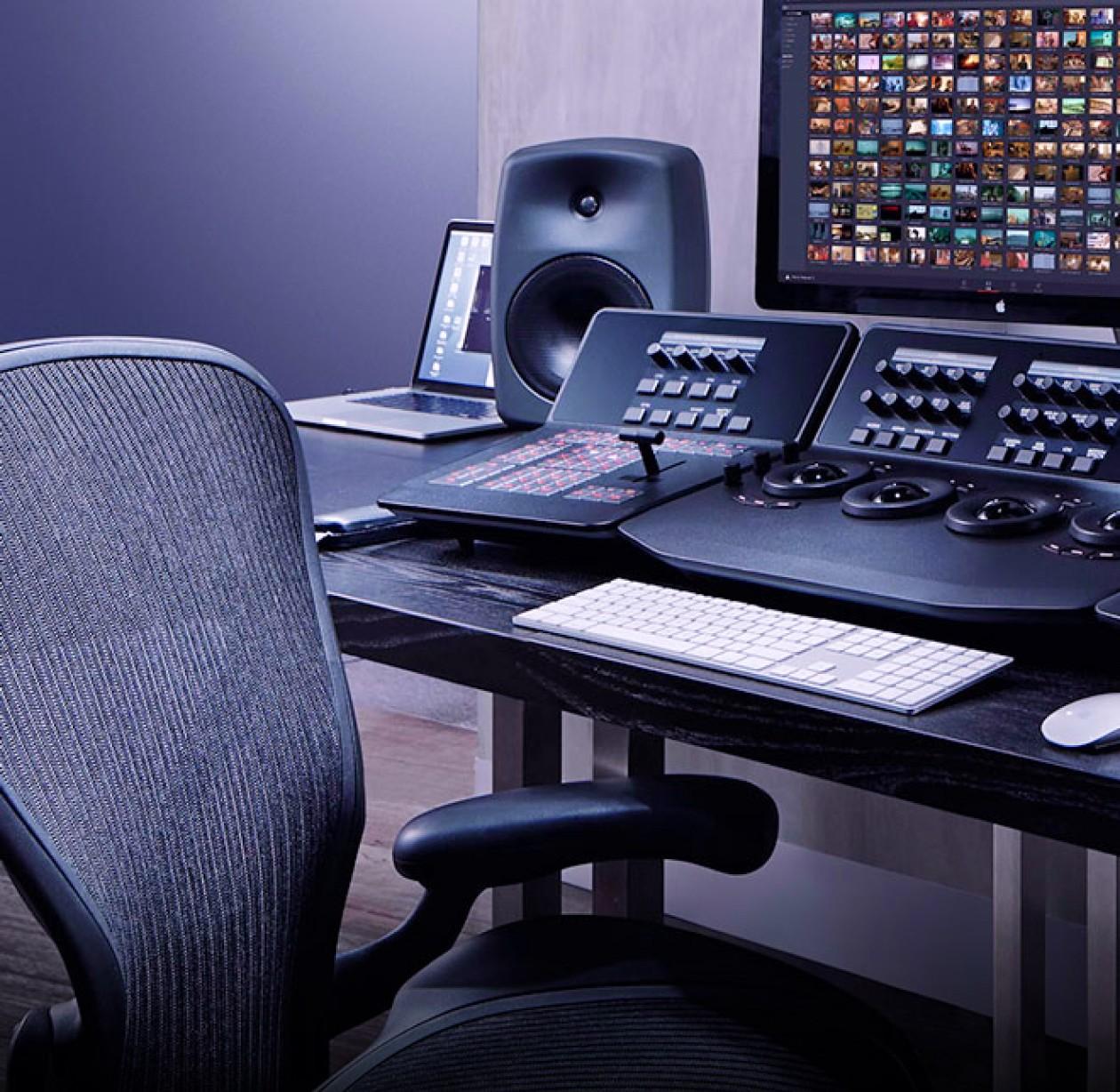 bureau de studio enregistrement audio